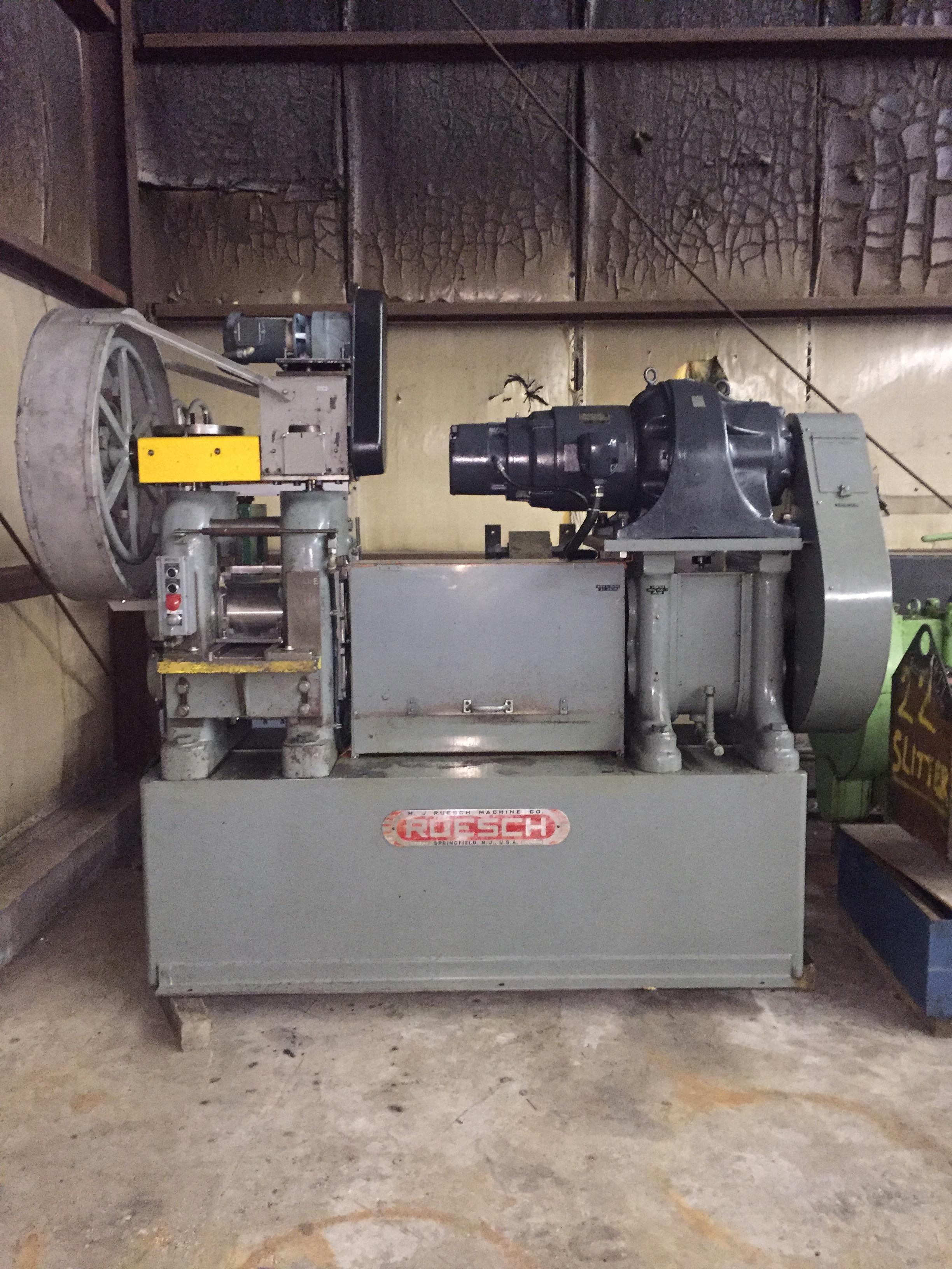 "RUESCH 8"" X 8"" 2HI ROLLING MILL WITH POWER ASSIST SCREWDOWNS"