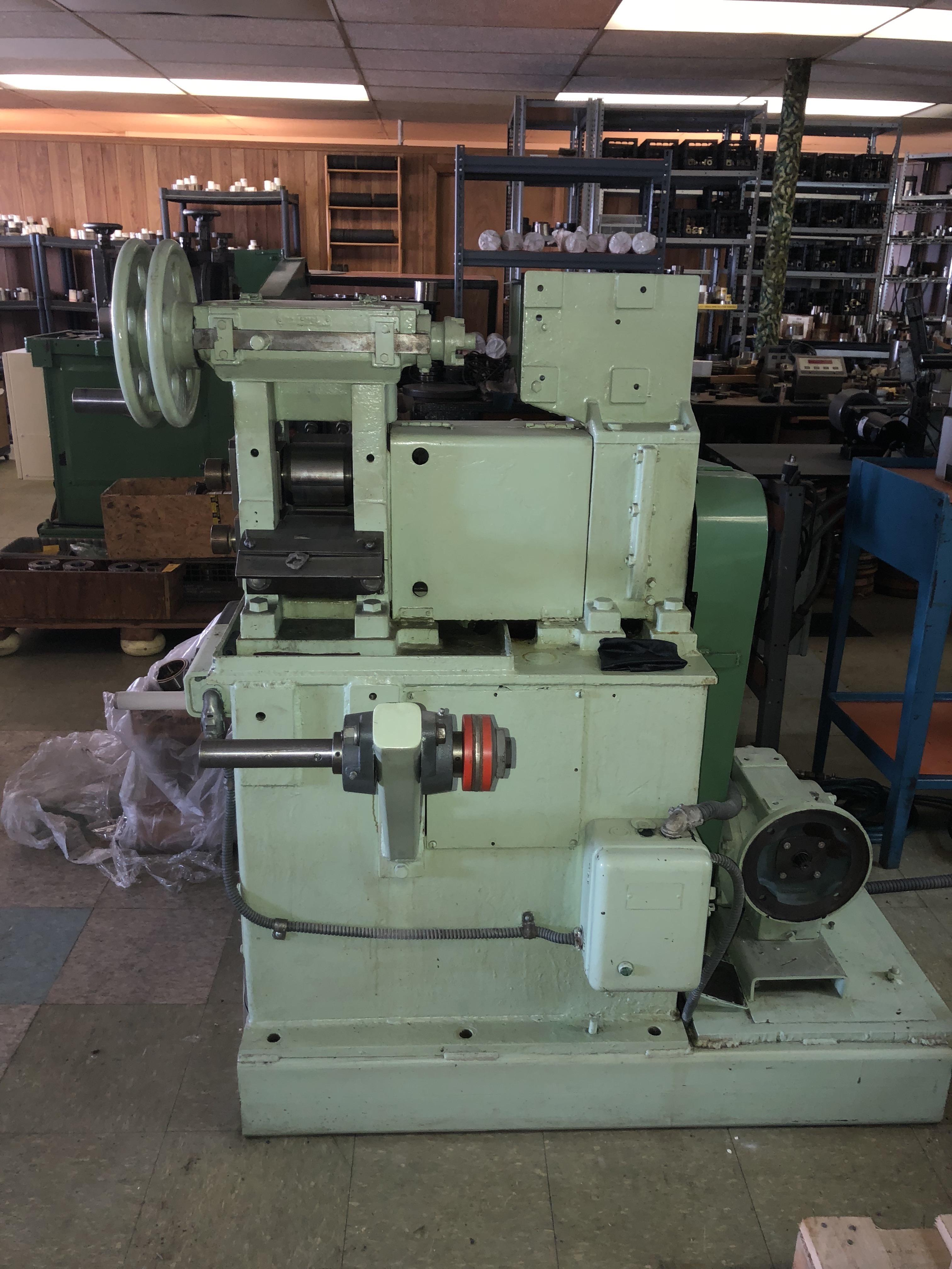 "WATERBURY FARREL 4"" X 4"" 2HI WIRE FLATTENING ROLLING MILL WITH PAYOFF AND RECOILER"